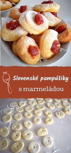 Recept na pampúšiky, slovenské smažené koblížky. Cereal, Breakfast, Food, Breakfast Cafe, Essen, Yemek, Meals