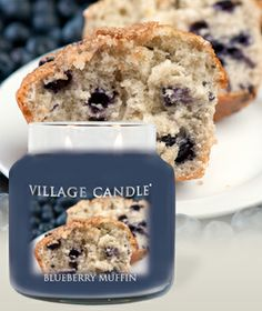 Blueberry Muffin-Premium Round Scented Candles | Village Candle
