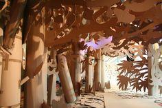 cardboard forest filler