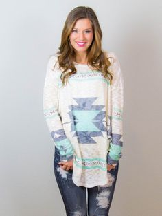 Mint to be Aztec Tunic | DazyLu.com