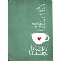 Happy Things Wooden Wall Art