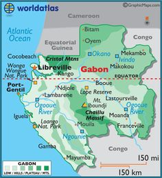 Gabon.   We loved living in this beautiful country!