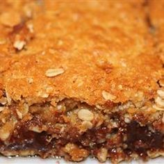 "Chocolate Oatmeal Bars | ""Theses are the best oatmeal bars i have ever had! I brought them to a bake sale and they were gone in 10 minutes. try them and you'll see!!!"""