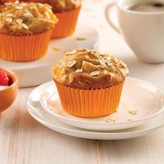 Muffins aux pêches - Les recettes de Caty Nutrition, Dessert Recipes, Desserts, Scones, Biscuits, Cupcakes, Place, Voici, Food