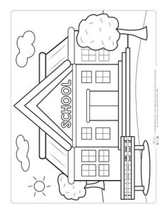 Back to School Coloring Pages for Kids Kids Crafts free kids coloring crafts diy Kindergarten Coloring Pages, Kindergarten Colors, School Coloring Pages, Easy Coloring Pages, Coloring Sheets For Kids, Disney Coloring Pages, Kindergarten Activities, Kids Coloring, I School