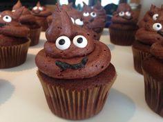 Poop emoji cupcakes.