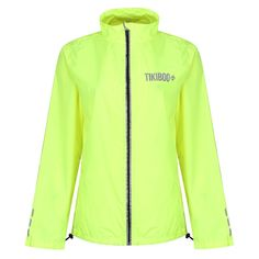 Keep running when it's chilly, rainy or dark thanks to our unisex Reflective Windbreaker Running Jackets. Made from lightweight Polyester fabric, they're showerproof and windproof with front and back reflective print detail including zip, cuffs, neck and Tikiboo logos. In popular neon yellow, you'll always be seen when pounding the streets or trails.  Ever practical, we've included two front zipped pockets and headphone cable feed. . Neon Run, Running Jacket, Neon Yellow, Workout Tops, Adidas Jacket, Cuffs, Windbreaker, Cable, Pockets