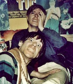 Bowie and Pop, 70's Berlin, horsin' about