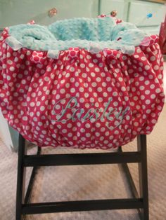 Pink Polkadot Shopping Cart Cover by TWINSANDQUINN on Etsy, $55.00