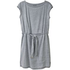 A.P.C. Drawstring Linen Dress ($163) ❤ liked on Polyvore