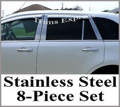 2007-2011 Lincoln MKX/Ford Edge 8Pc Chrome Pillar Post 2007-2012 Lincoln MKX. 2007-2012 Ford Edge. Premium quality stainless steel with polish surface. 3M tape on the back for easy installation. If you have any questions or concerns, feel free to contact us through Amazon (We are here to help).  #UpgradeYourAuto #AutomotivePartsAndAccessories