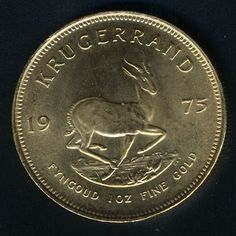South African Gold Ounce Krugrrand 1 oz. 1975