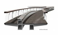 945 McDowell Benedetti Ped Bridge Sectional Perspective
