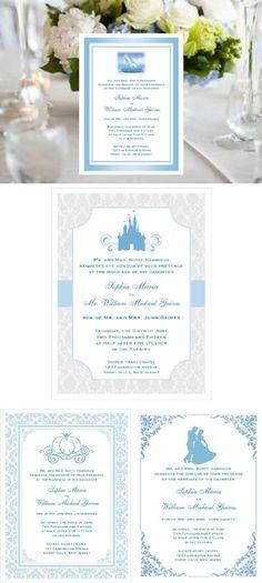 Cinderella Wedding Royal Ball Party Invitations Announcements