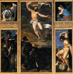 Polittico Averoldi Autore:Tiziano Data:1520-1522 Dove:Colleggiata Santi Nazaro e Celso Brescia