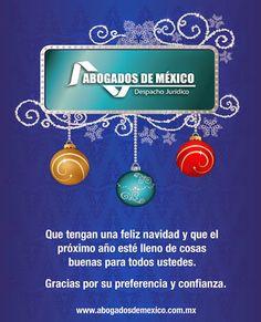ABOGADOS DE MEXICO les desea ¡Felices fiestas! Agradecemos su confianza. www.abogadosdemexico.com.mx   Powered By: Genius Media Interactive Agency Abogados de México (Despacho Jurídico) - Google+
