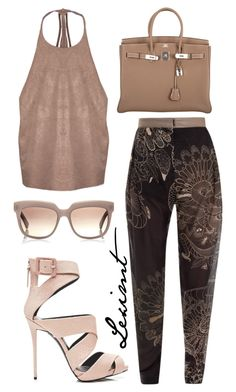 Untitled #417 by leximt on Polyvore featuring polyvore, fashion, style, Jena.Theo, Giuseppe Zanotti, Hermès, Marni and clothing