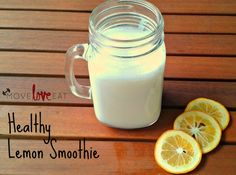 Healthy Lemon Smoothie Recipe - Move Love Eat - Health and Fitness Blog