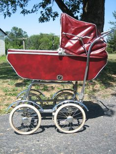 Vintage pram-we had one just like this.