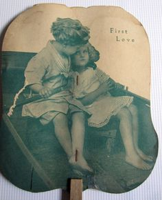 Vintage Paper Fan Advertising 1930s First Love by OwlInAnIvyBush, $17.00