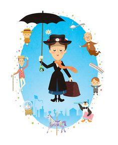 Oh! Una ilustración de Mary Poppins hecha por Jerrod Maruyama y yo sin saberlo!!!!