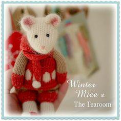 WINTER Mice at the TEAROOM Knitting Pattern/ by maryjanestearoom
