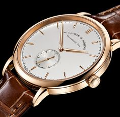 Gorgeous high-resolution image of an A Lange & Sohne Saxonia