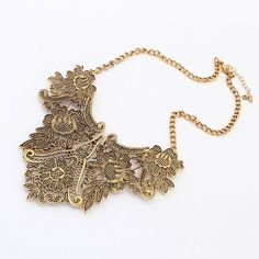 European And American Gold Retro Geometric Pattern Metal Necklace[US$5.49]shop at www.favorwe.com