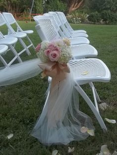 pew bows for wedding ceremony | Tulle, Ribbon and Clusters