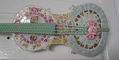 Handmade broken china mosaic violin | Flickr - Photo Sharing!