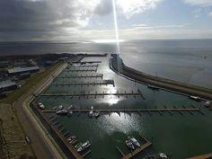 Een lege haven van Vlieland. Maart 2016