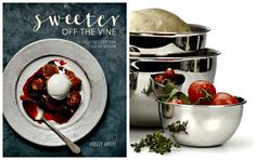 1 winner will win 1 copy of Sweeter off the Vine cookbook, 2 cookie sheets, parchment paper, and 2 stainless mixing bowls