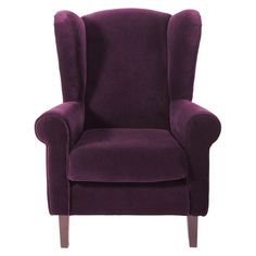 Kindersessel Velours violett