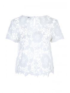 Add a versatile crochet t-shirt to your collection of holiday essentials this season. Featuring an all-over crochet design with a round neck and short sleeve. Crochet T Shirts, Holiday Essentials, Wimbledon, Crochet Designs, Lace, Sleeve, Collection, Tops, Women