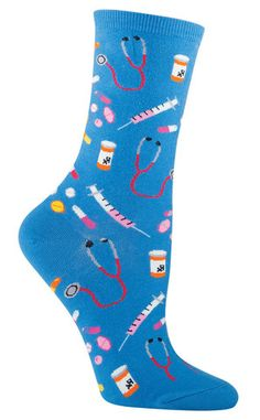 Medical Awesome Novelty Sock for Women in blue   |   FOR JOANNA