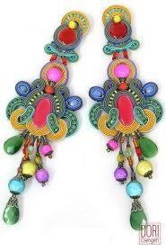 Soutache earrings - beautiful!! EPH-E929
