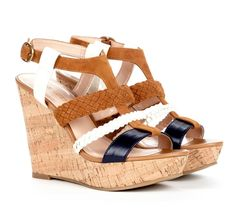 Black, White & Brown Wedge Heels they go with everything!