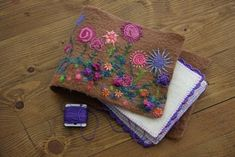 A Room Full of Things: Wet Felted Alpaca Needle Case