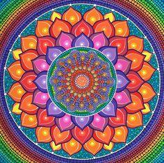 "Mandala - Titre: ""Lotus Rainbow Mandala"" - Auteur : Elspeth McLean - Source : RedBubble -"
