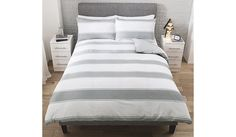 Buy George Home Grey Stripe Duvet Set  from our Bedding range today from George at ASDA.