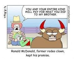 Funny pictures about McDonald's: The beginning. Oh, and cool pics about McDonald's: The beginning. Also, McDonald's: The beginning photos. Ronald Mcdonald, Best Funny Pictures, Funny Images, Funny Pics, Silly Pics, Silly Pictures, Donald Trump, I Love To Laugh, Laugh Out Loud