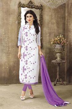 Buy Pink Crepe Punjabi Salwar Suit with Dupatta at Low Price in India | Salwar Kameez Online Shopping | Latest Designer Salwar Kameez on Variation