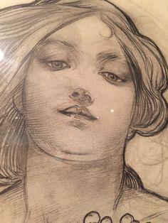 Alphonse Mucha sketch Kelvingrove Museum Glasgow                                                                                                                                                                                 More