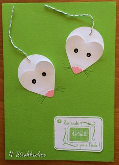 Carte souris pour nouveaux élèves New Year's Crafts, Easy Arts And Crafts, Crafts To Make, Paper Crafts, Preschool Art Activities, Fun Activities For Kids, Farm Theme Crafts, Mouse Crafts, Creative Gift Wrapping