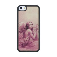 ANGEL PLAYING LYRA OVER THE CLOUDS purple Carved® Maple iPhone 5C Slim Case
