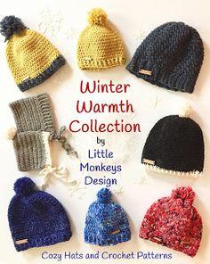 3d6e9fda317 Winter Warmth Collection of crochet patterns by Little Monkeys Design  Crochet Adult Hat