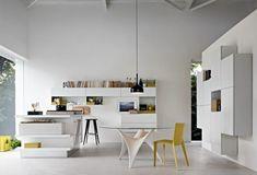 Meuble design pas cher – modules Forte Piano de Molteni - design-Fortepian-jaune-blanc-minimaliste