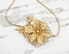 Precious Petite headband in gold with plenty of sparkle by SoTweetDesigns on Etsy