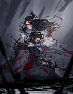 Galeria MDZS/SVSS/HOB - MDZS WangXian - Wattpad Sad Anime, Anime Guys, Manga Anime, Mpreg Anime, Nezumi No 6, Light In, The Grandmaster, Animes Wallpapers, Beautiful Artwork