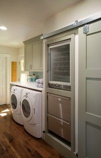 Laundry room - love the idea of the wine fridge and cooling/warming cupboards in here (if beside kitchen)